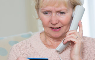 Cloud telephony scam targeting Senior Woman